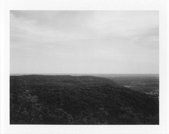 "Olga Janina  - Polaroid - ""View of Eardley Escarpment"""