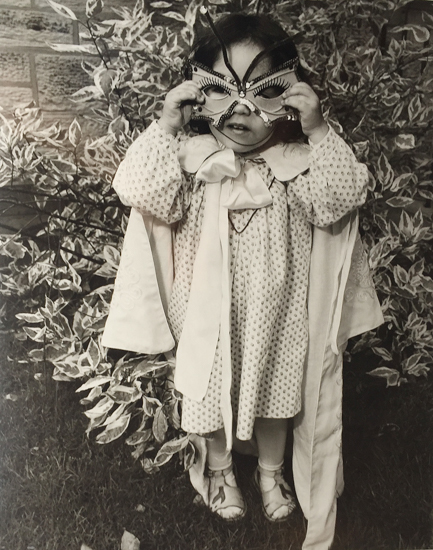 "Valerie Burton  - 2nd Prize - Silver Gelatin - ""Little Indian Girl In Mask"""