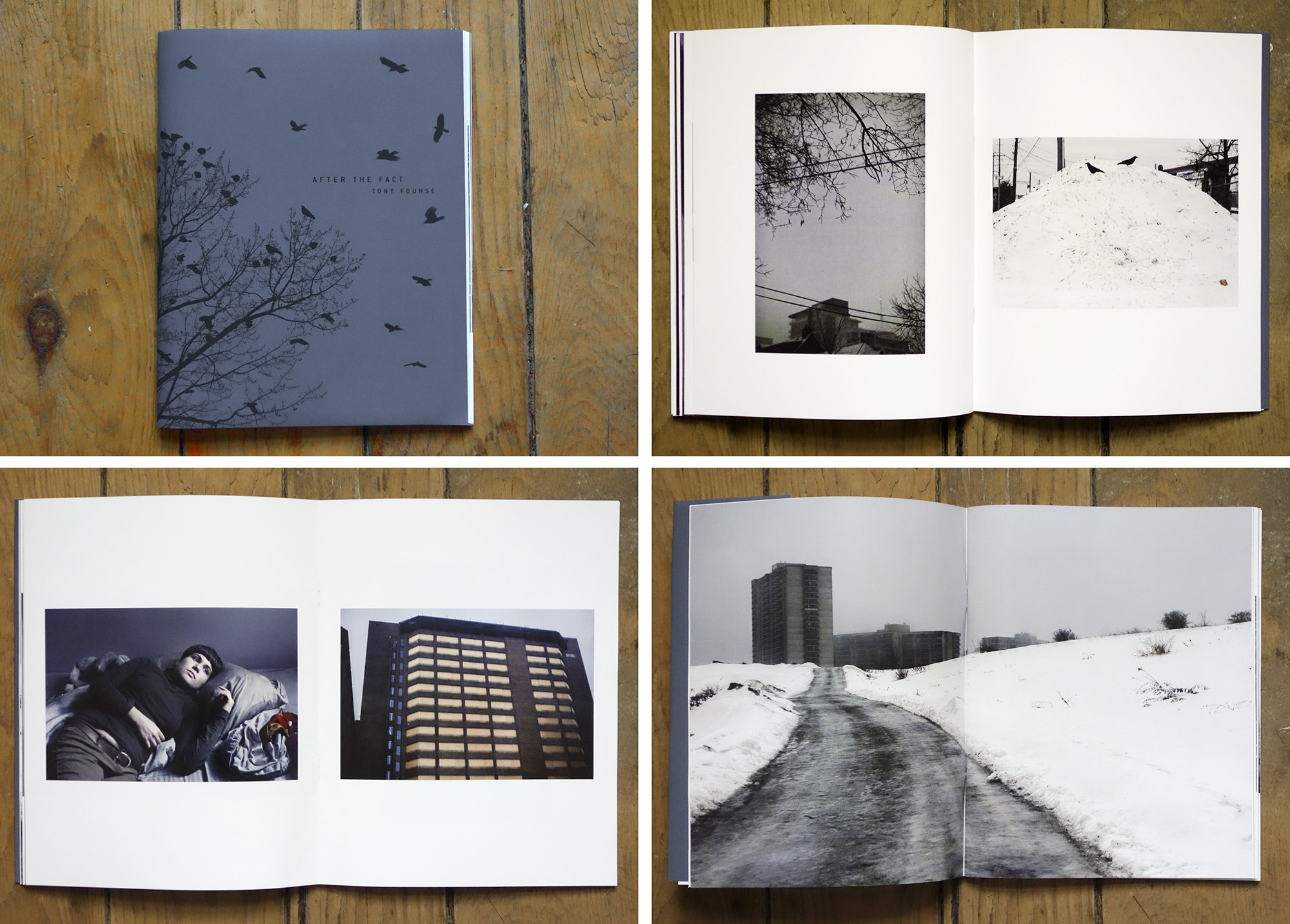 page spreads from AFTER THE FACT by Tony Fouhse