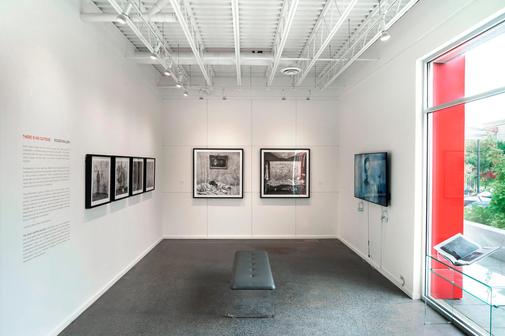 image of 2018 exhibition at the SPAO Centre Gallery, THERE IS NO OUTSIDE: ROGER BALLEN