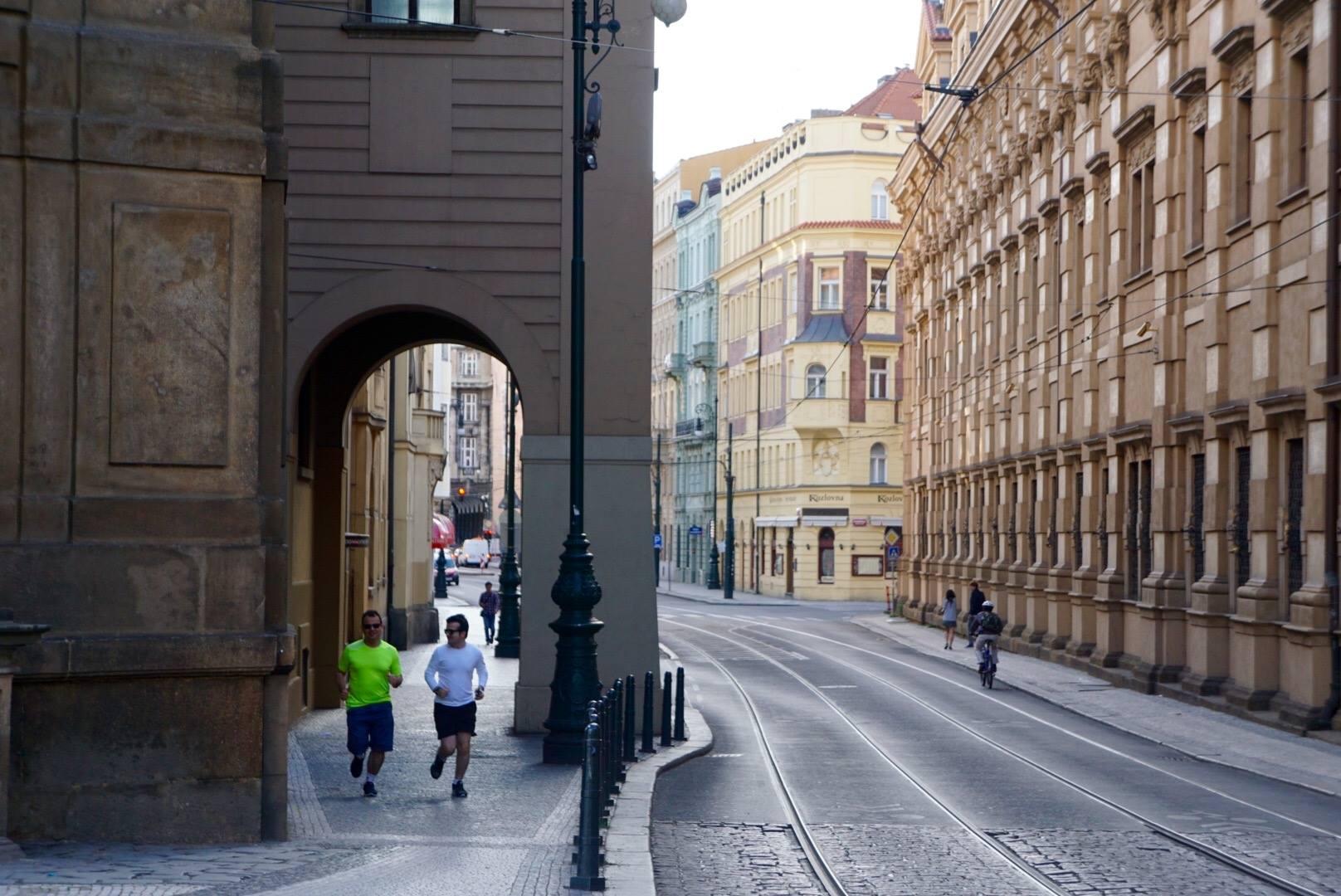 Morning Run in Prague