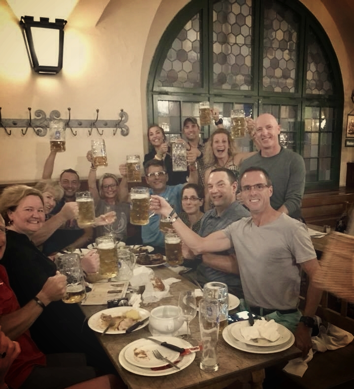 The tour finale in Munich, at the Hofbrau Haus!