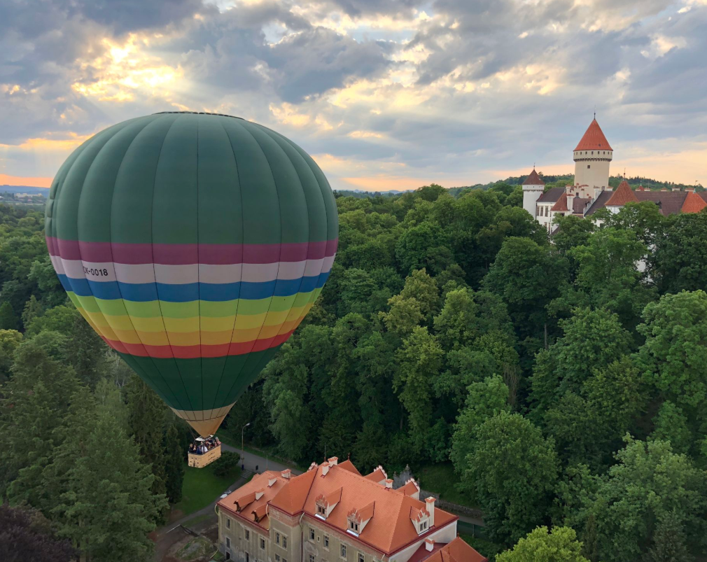 The optional sunrise hot air balloon ride over the Czech countryside is breathtaking!