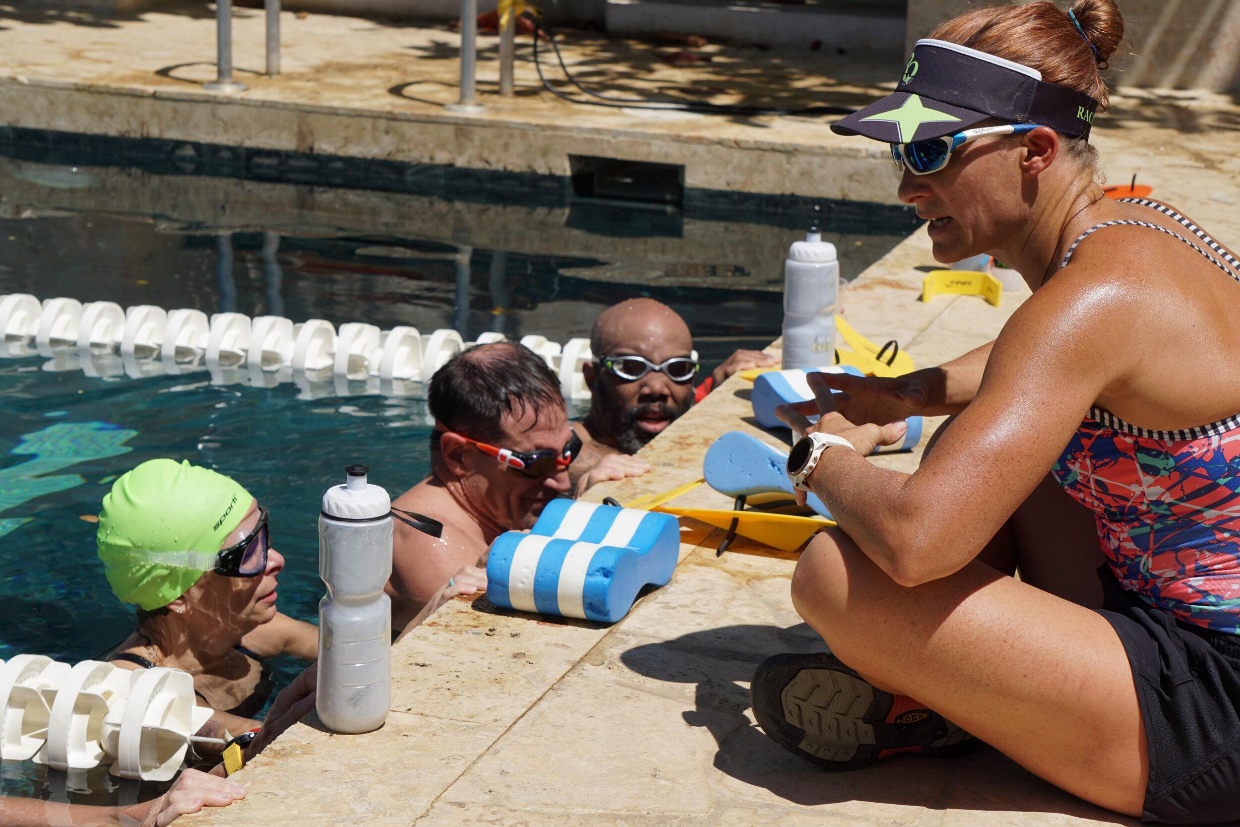 Coach Jessica Jacobs at RaceQuest's Costa Rica Triathlon Training Camp (2019).