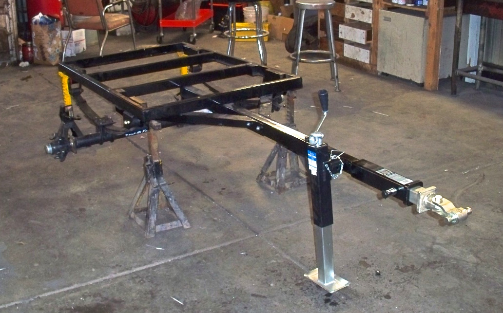 The bare chassis finished