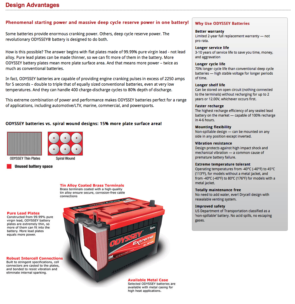 Odyssey are a combination type AGM with superior design to most other AGM batteries