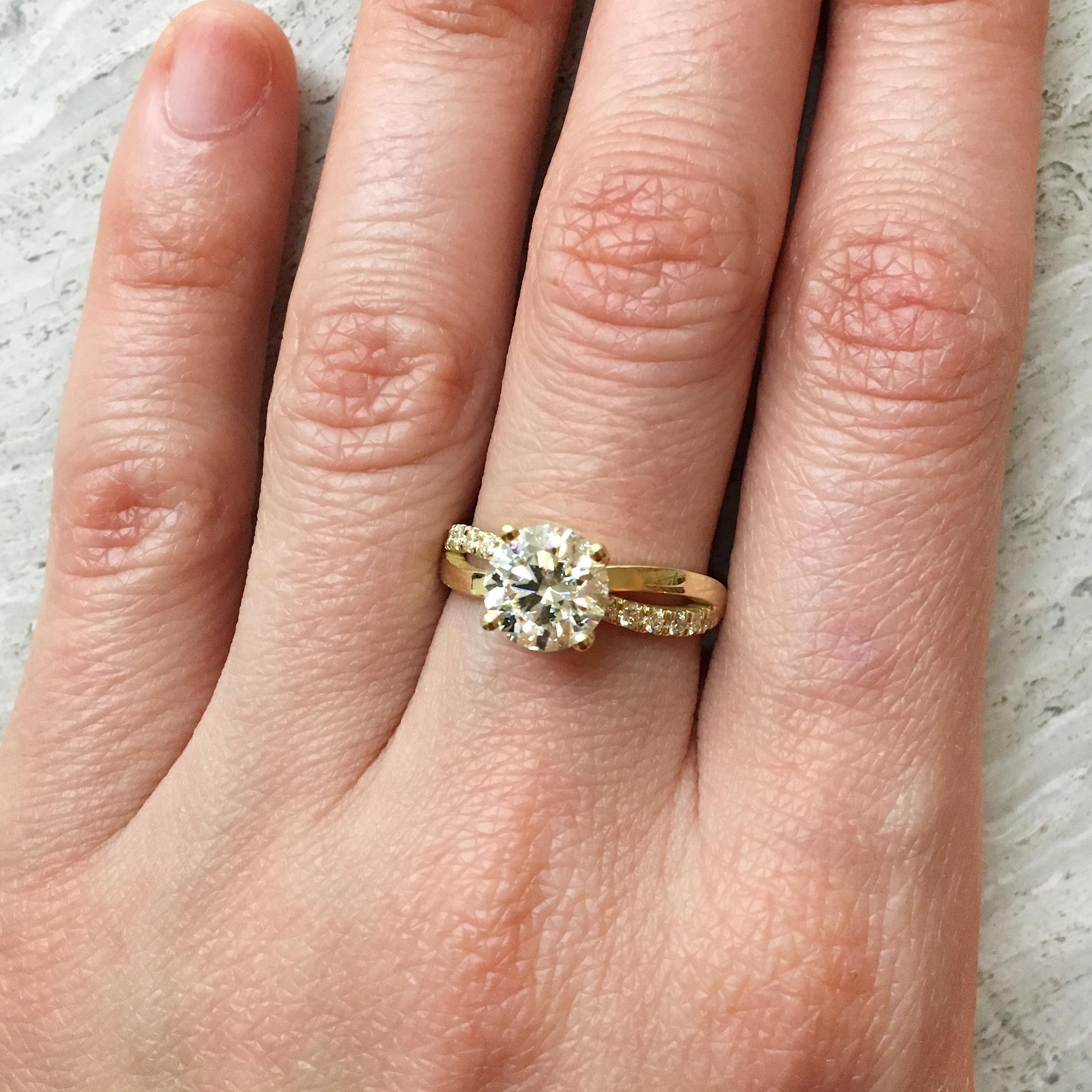 Tilda Biehn custom engagement ring
