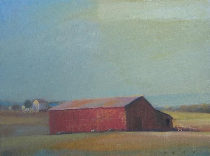 Red Barn (study) 9x12 2006.jpg