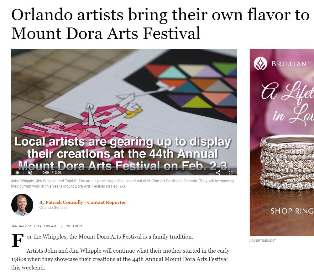 See the video and entire article at  https://www.orlandosentinel.com/entertainment/os-et-s4-mount-dora-arts-fest-20190131-story.html