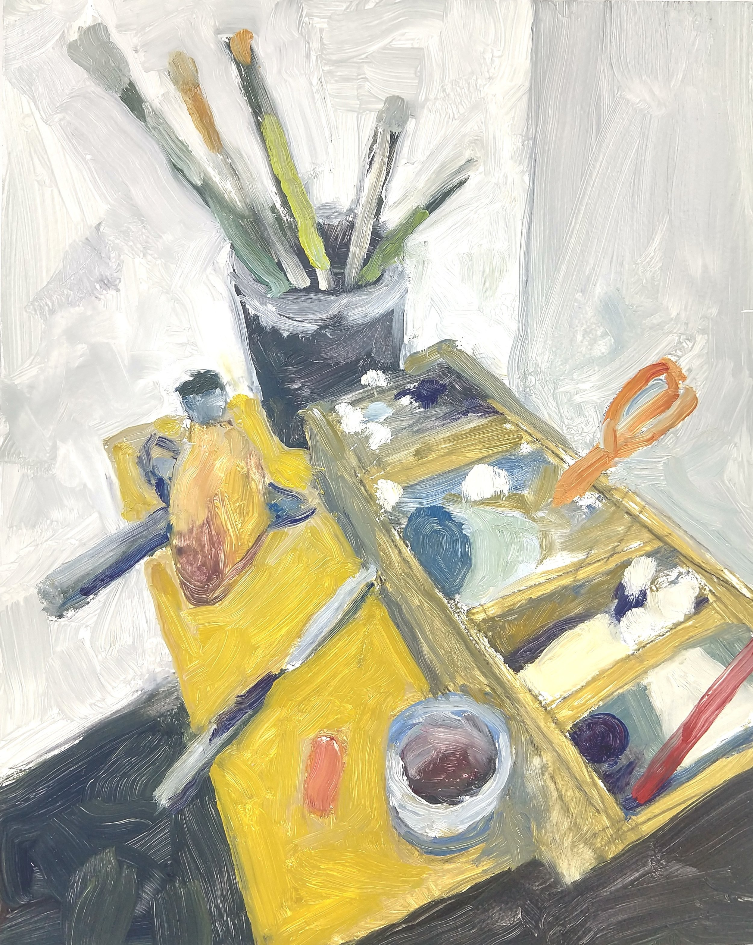 Artist's Tools, Robert Ross, 10x8 in, oil.jpg