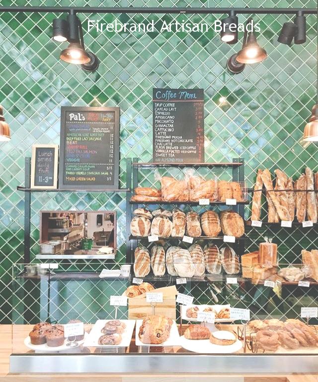 Firebrand Artisan Bread Company - racks, shelving