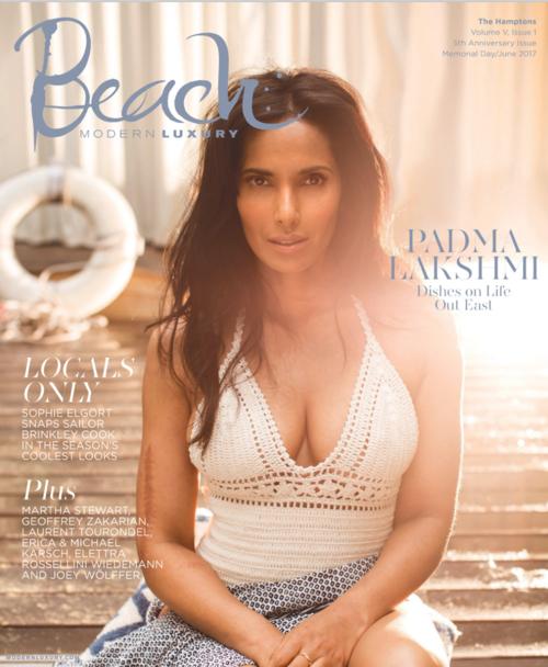 padma lakshmi//beach