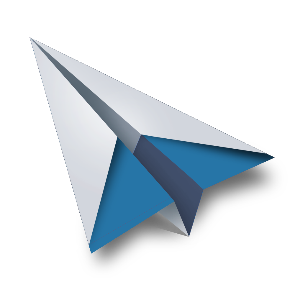 Contact Page Paper Plane