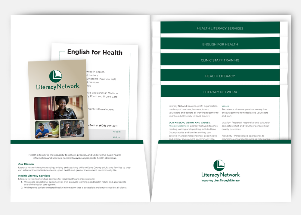 Literacy Network Health Literacy Folder