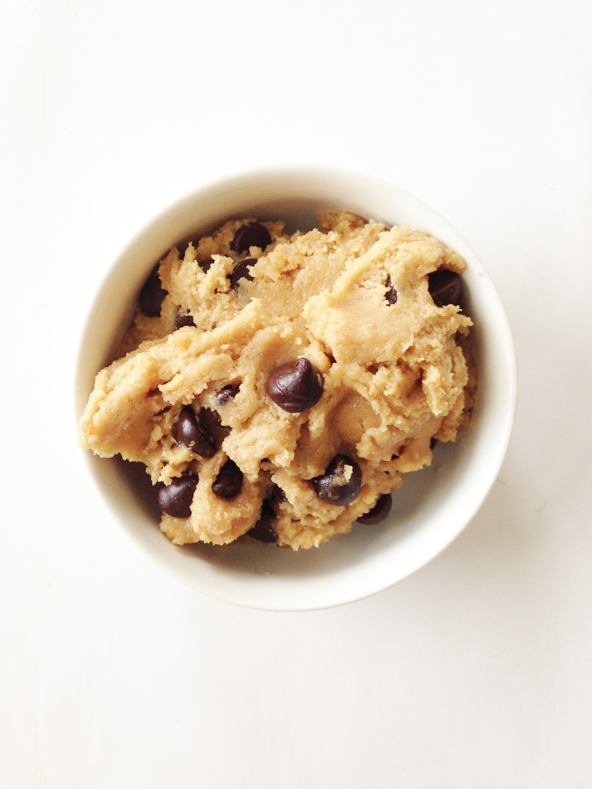 Skinny Edible Chocolate Chip Cookie Dough Whole Wheat The Skinny Fork