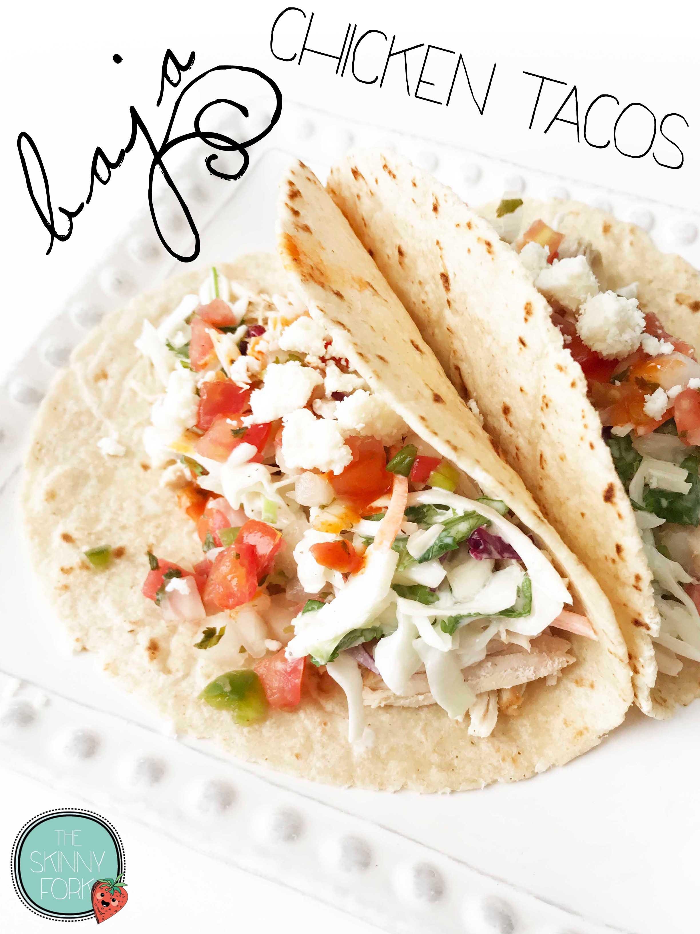 Baja Chicken Tacos Crock Pot Or Instant Pot The Skinny Fork