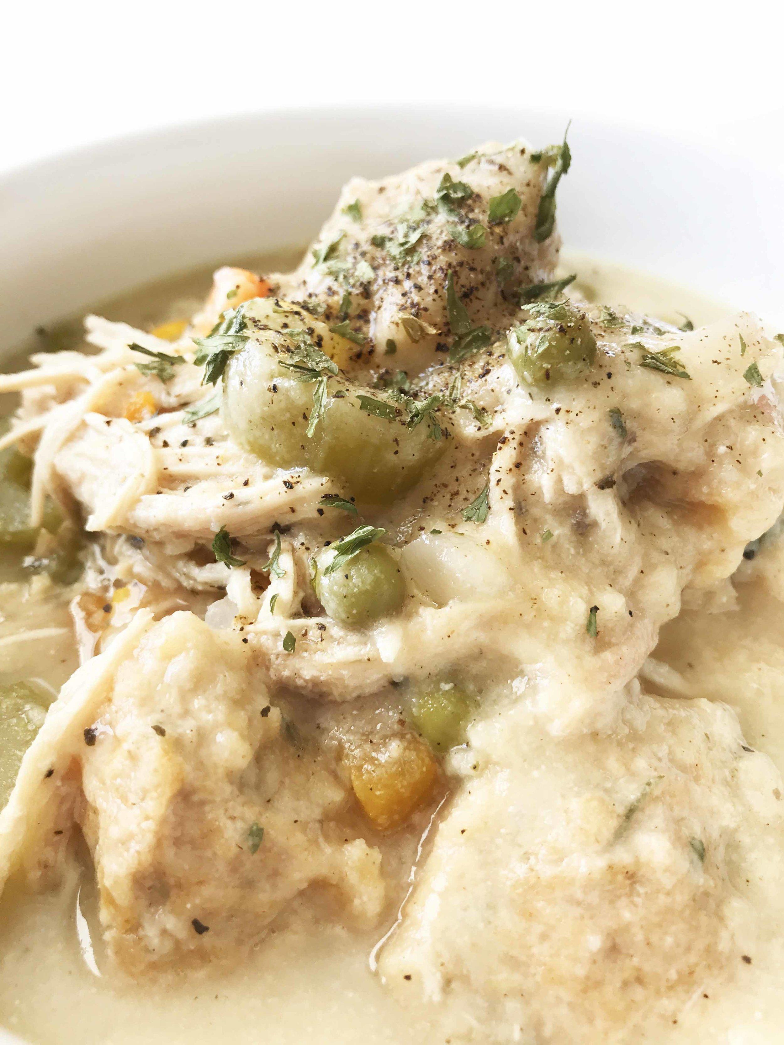 Healthified Crock Pot Chicken Dumplings The Skinny Fork