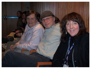 Alan Segal, Simcha Jacobovici, and April DeConick at The Tomb of Jesus and His Family conference, Jerusalem, 2008
