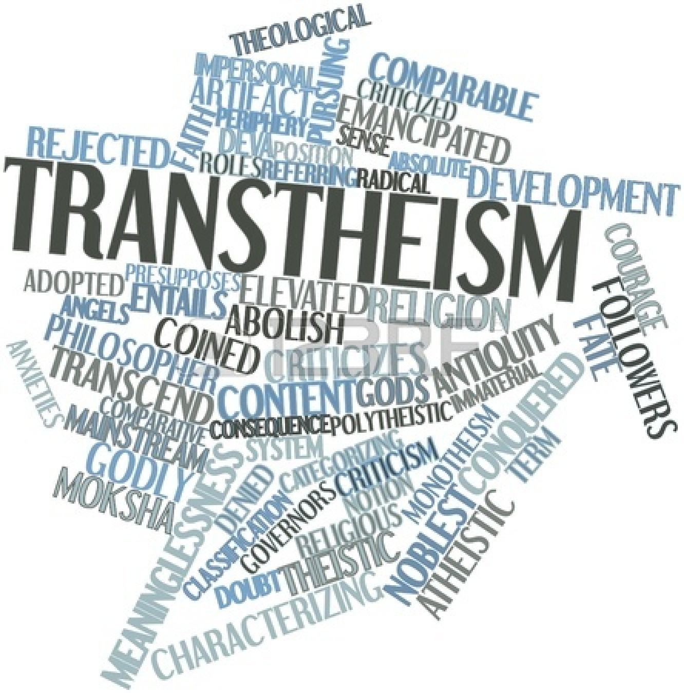 Love this randomly generated abstract cloud of words associated with Transtheism!