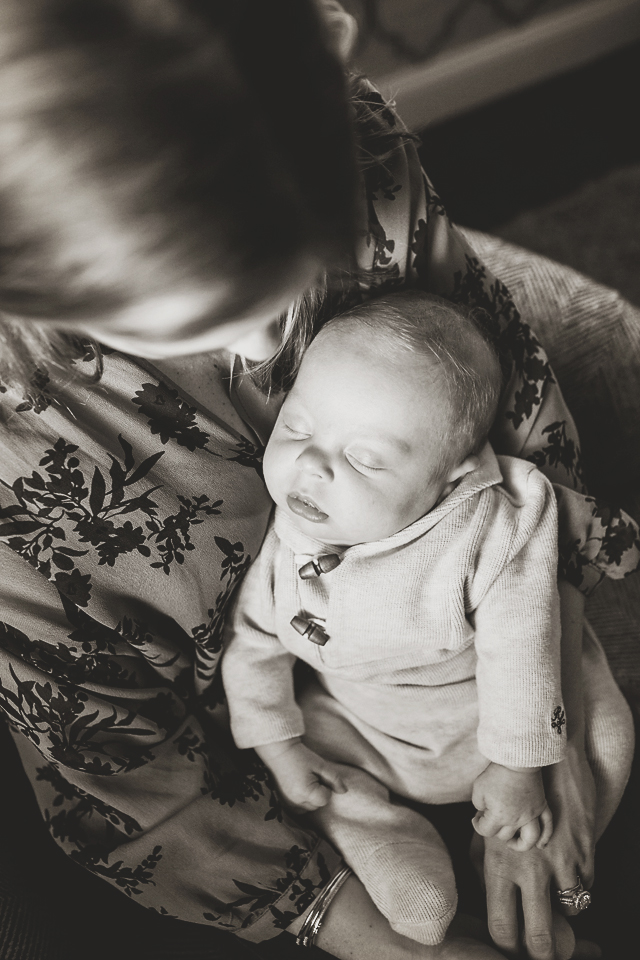 At home newborn lifestyle photography - summit new jersey