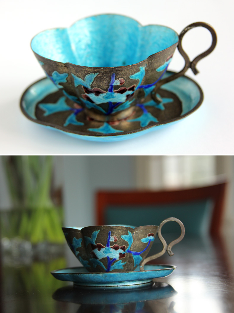 """These two photos were shot in exactly the same place on my dining room table in front of a north-facing window. For the top photo I placed it on a piece of white paper and shot slightly from above. The bottom photo has a busier background, but gives a sense of place. If you want to include background objects without them distracting too much, try using the """"portrait"""" mode on your camera to blur the background."""
