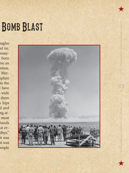 Here's a photo I used to enhance a client's book, in which he was telling a story about atomic testing in Nevada. I found it on Wikimedia Commons.
