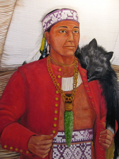 Massasoit, my 11th great-grandfather. I totally inherited his nose.