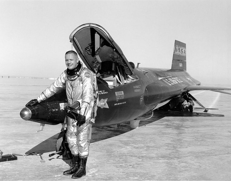 Using Google Image Search to Find High-Res Public Domain Images for Personal History. This is a public domain NASA photo of my ancestor, Neil Armstrong, downloaded from Wikimedia Commons.