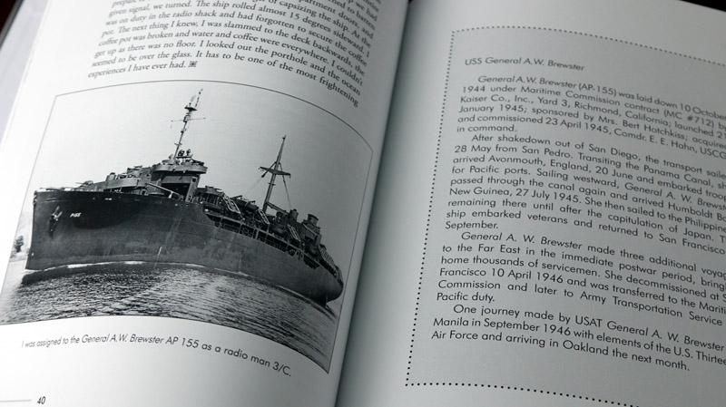 A sidebar (right) is one way to add additional historical or explanatory background information that is aside from the main narrative. These few paragraphs about the ship on which Don sailed are set aside in a decorative box with a different typeface to separate it from the rest of the text.