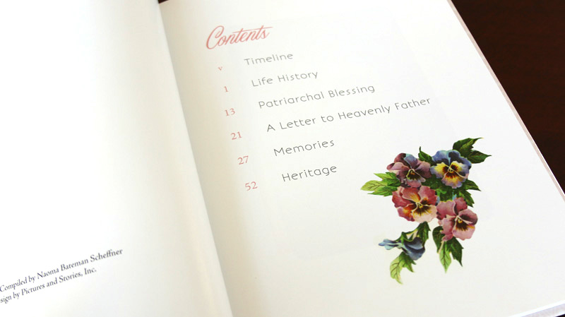 Table of contents.