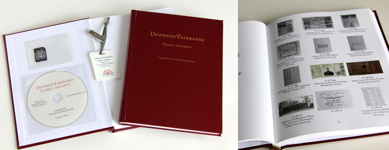 A digital archive book with storage media.