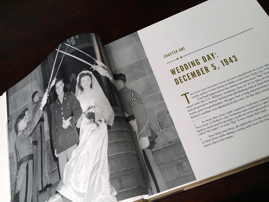 The opening chapter, which tells the story of how Rip and Bettye Young met and married while Rip was a cadet at West Point.