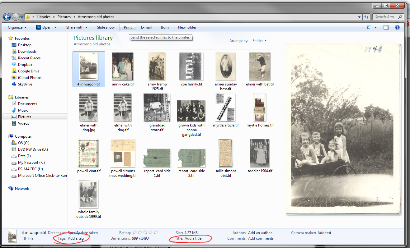 Metadata Writing On The Back Of A Digital Photo Pictures