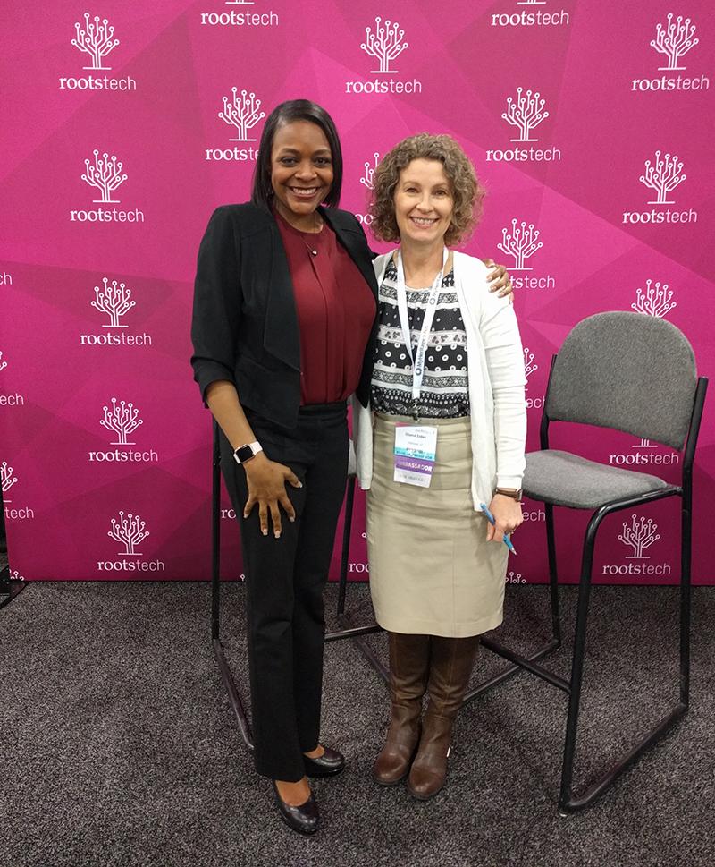 Genealogy Roadshow's Kenyatta Berry with Diana Elder of familylocket.com.