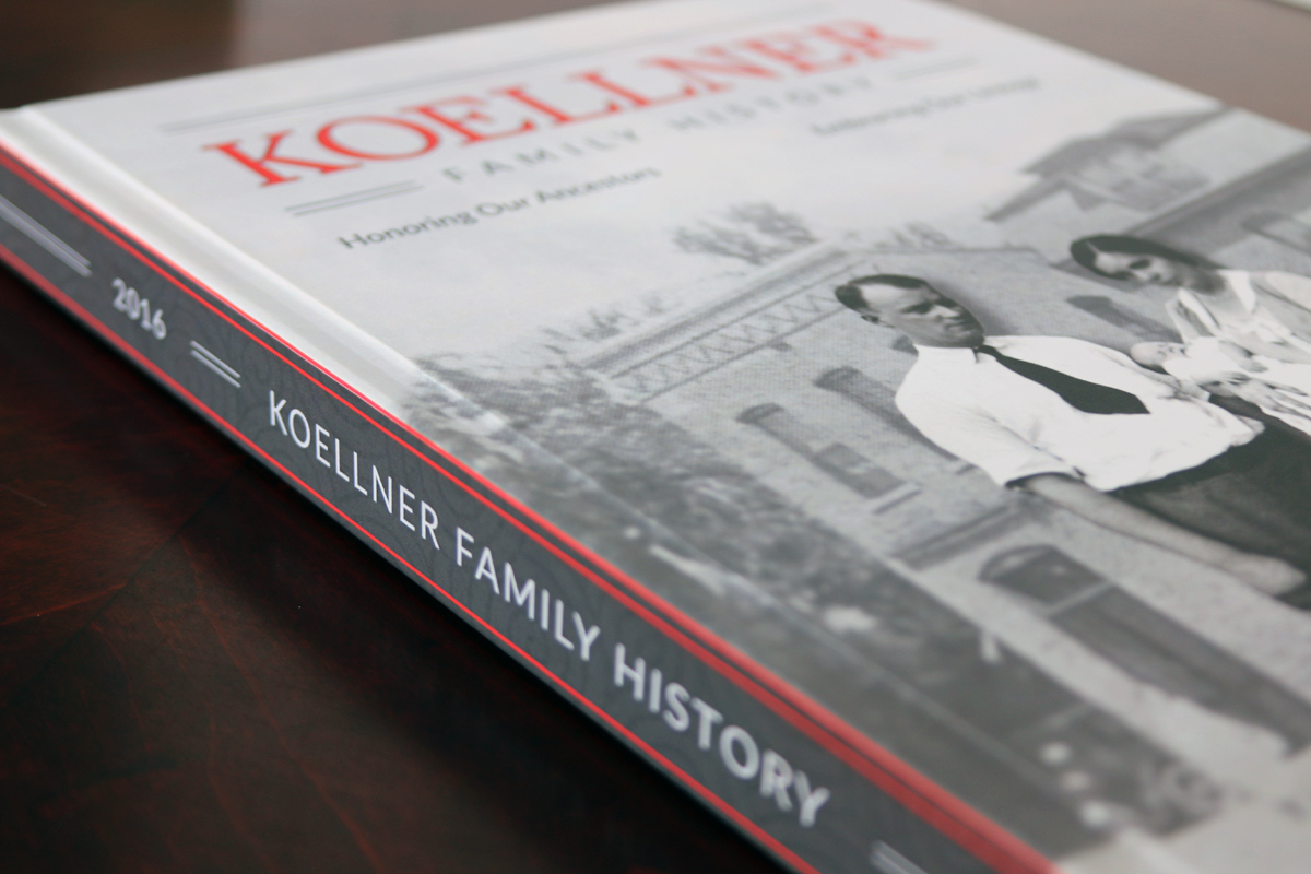 """This family history book began with a (let's admit it, rather boring)""""narrative report"""" automatically generated by a genealogy program."""