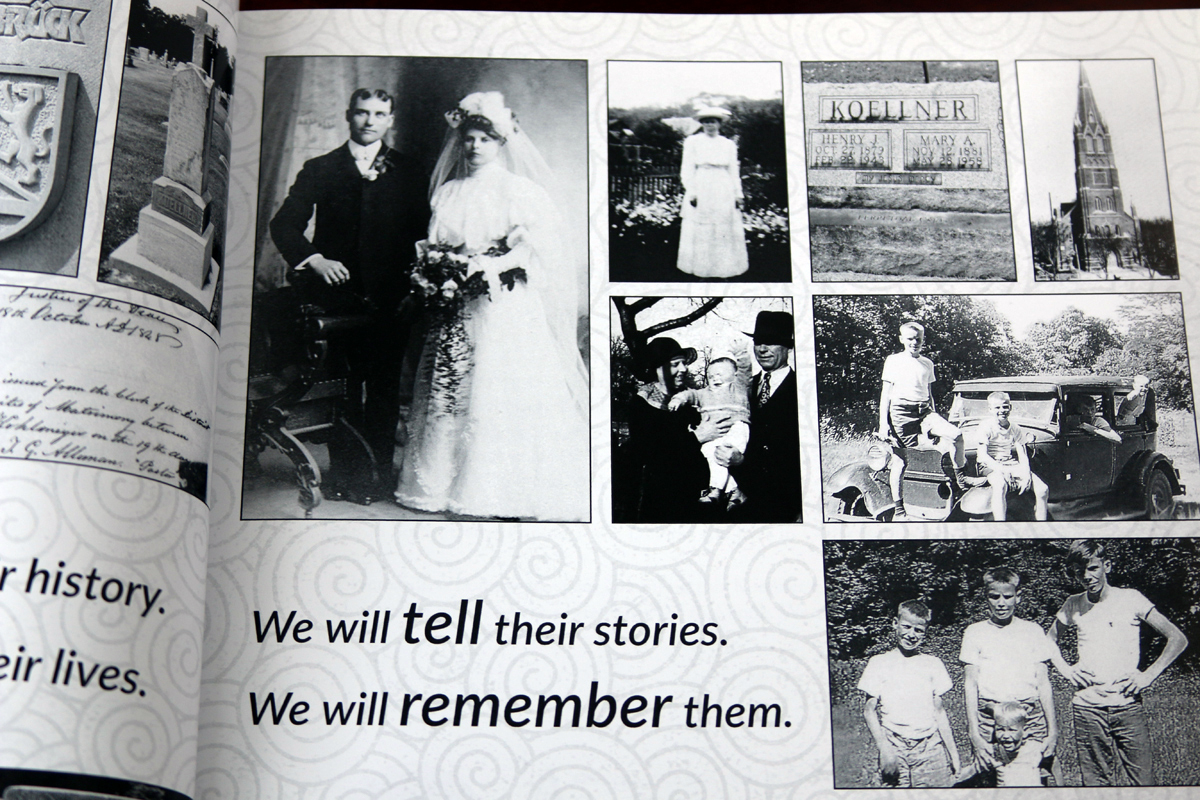 We began the book with a pictorial introduction to his family.