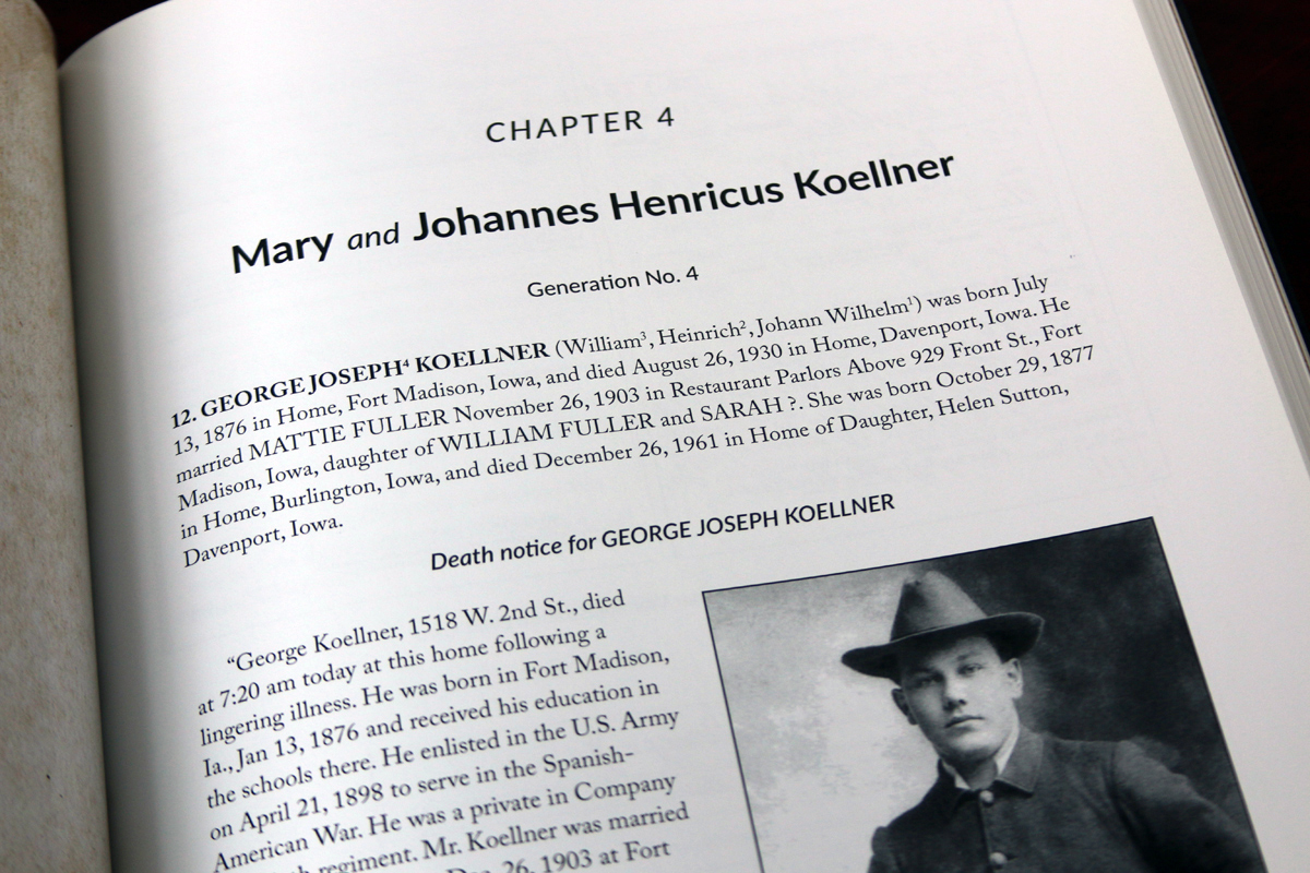 Although the generated narrative (first paragraph) is in the form of sentences, it isn't poetry. However, adding obituary text and photos gave a more interesting picture of the ancestor's life.