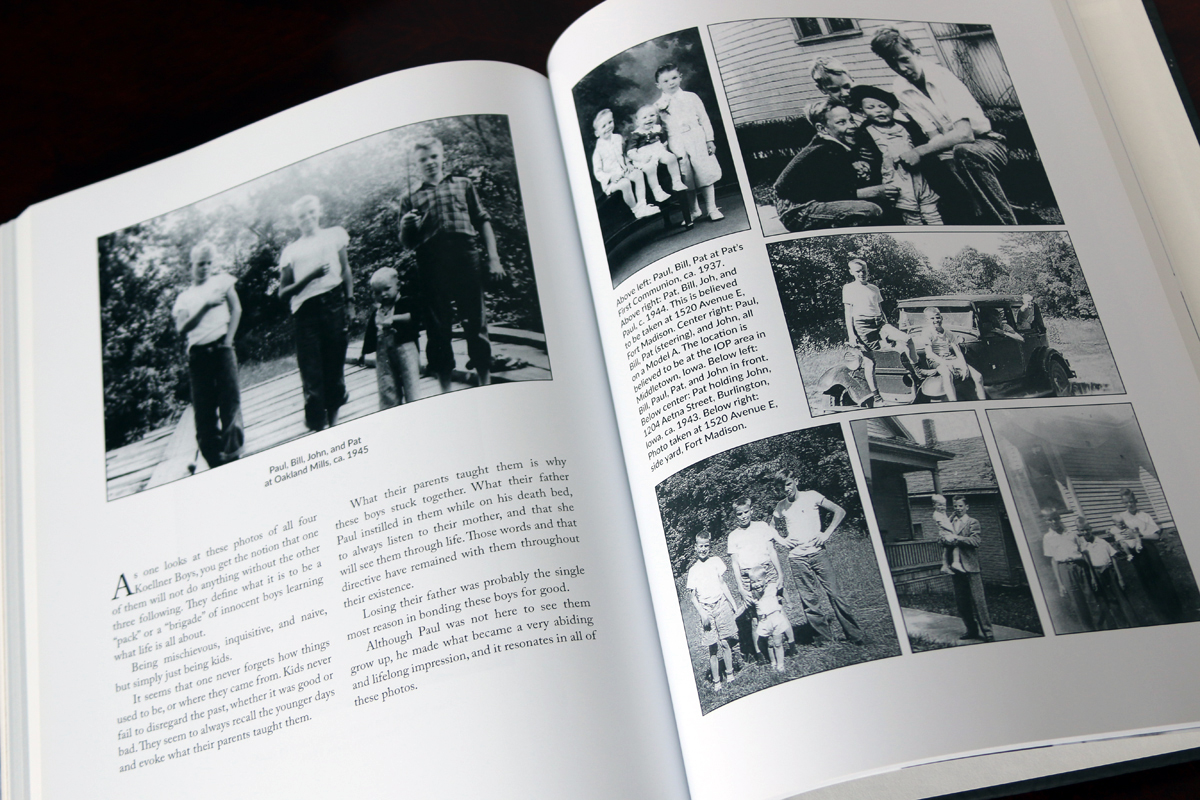 The final section of the book is about the current generations of the Koellner family.