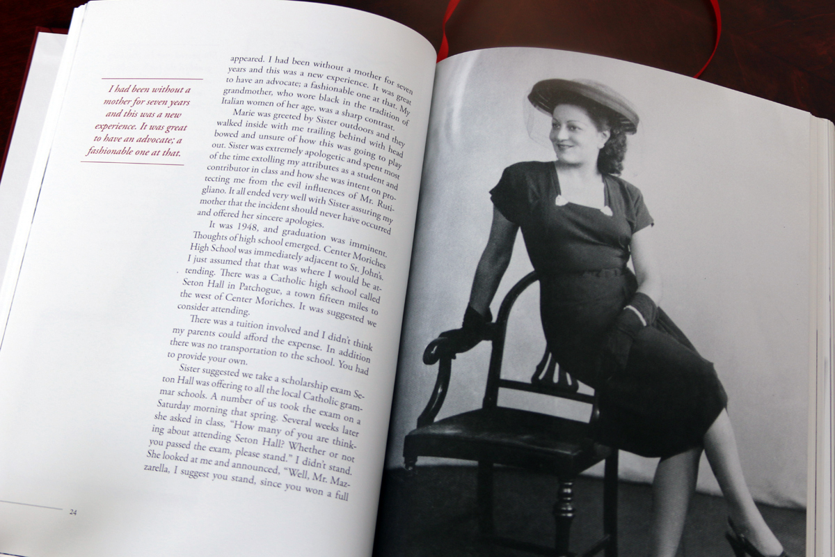 """Mickey's mother died when he was quite young, and he writes with great warmth about the woman his father married seven years later. He writes about his stepmother, """"It was great to have an advocate, and a fashionable one at that."""""""