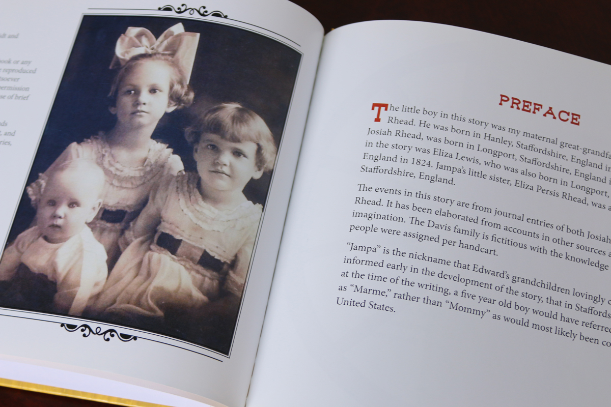 "An introduction features a photo of the children who heard the story at the feet of their grandfather, whom they called ""Jampa."""