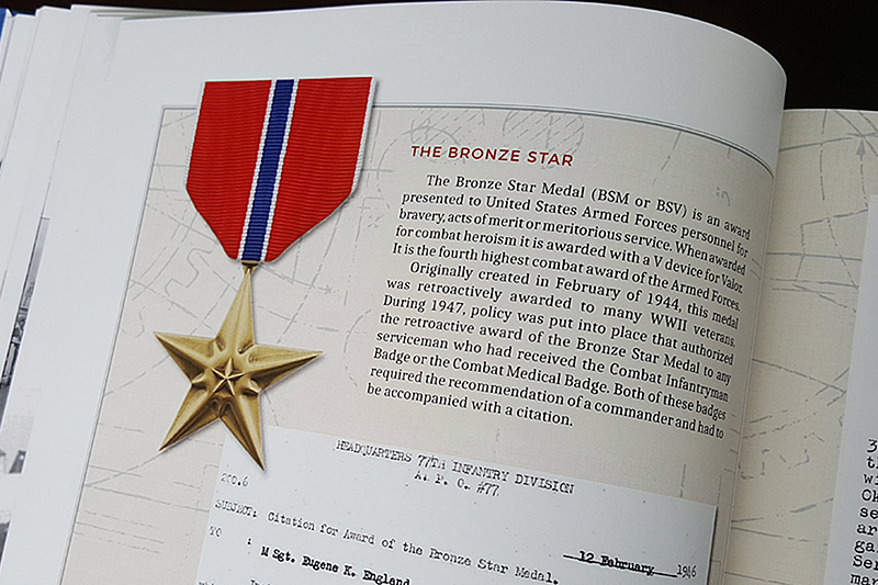 For his service in the Battle of Okinawa, Gene was awarded a Bronze Star.