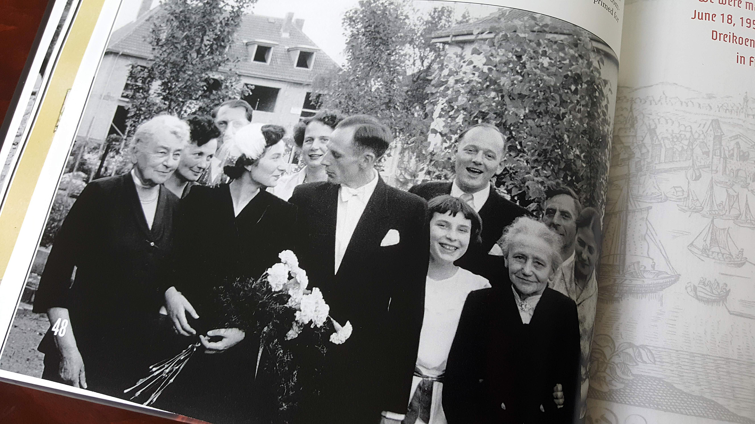 One of the most romantic wedding photos I've ever seen. Each family member shows their joy with a different expression. Eveline looks up adoringly at Fiti, and he looks as though he is just about to kiss her.