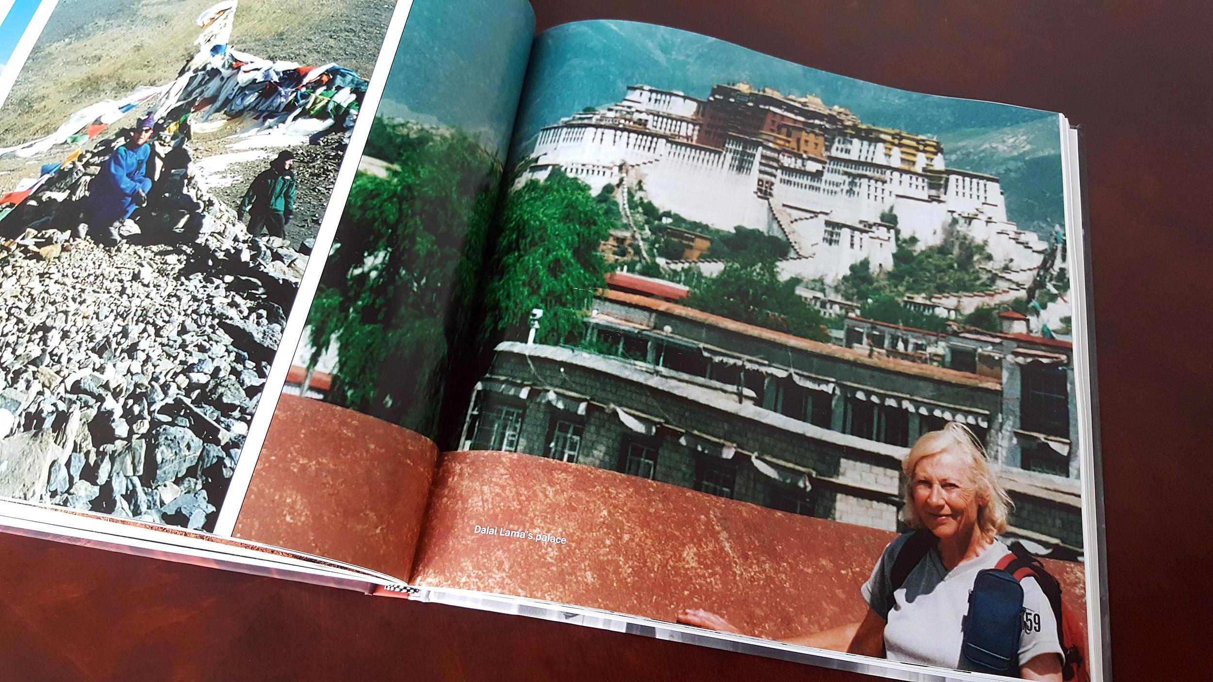 Eveline in Nepal.