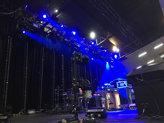 Stage is set for #alexisonfire at Festival Hall tonight!  Tag us if you get any great lighting shots! .....….… @aof_official @festivalhall  #festivalhall #melbourne #live #rocknroll #lightitup #lighting #lights #stage #roadie #sideofstage #backstage #ledbars