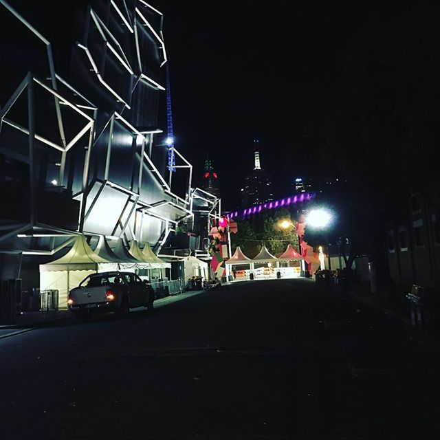 When the crowds gone home....we remain After an epic weekend of music and art we are bumping out Sugar Mountain @sugarmountainfestival  #sugarmountain #melbourne #festival #arts #music #living #create #bumpout #roadie #loader #trucking #city #stages #lighting