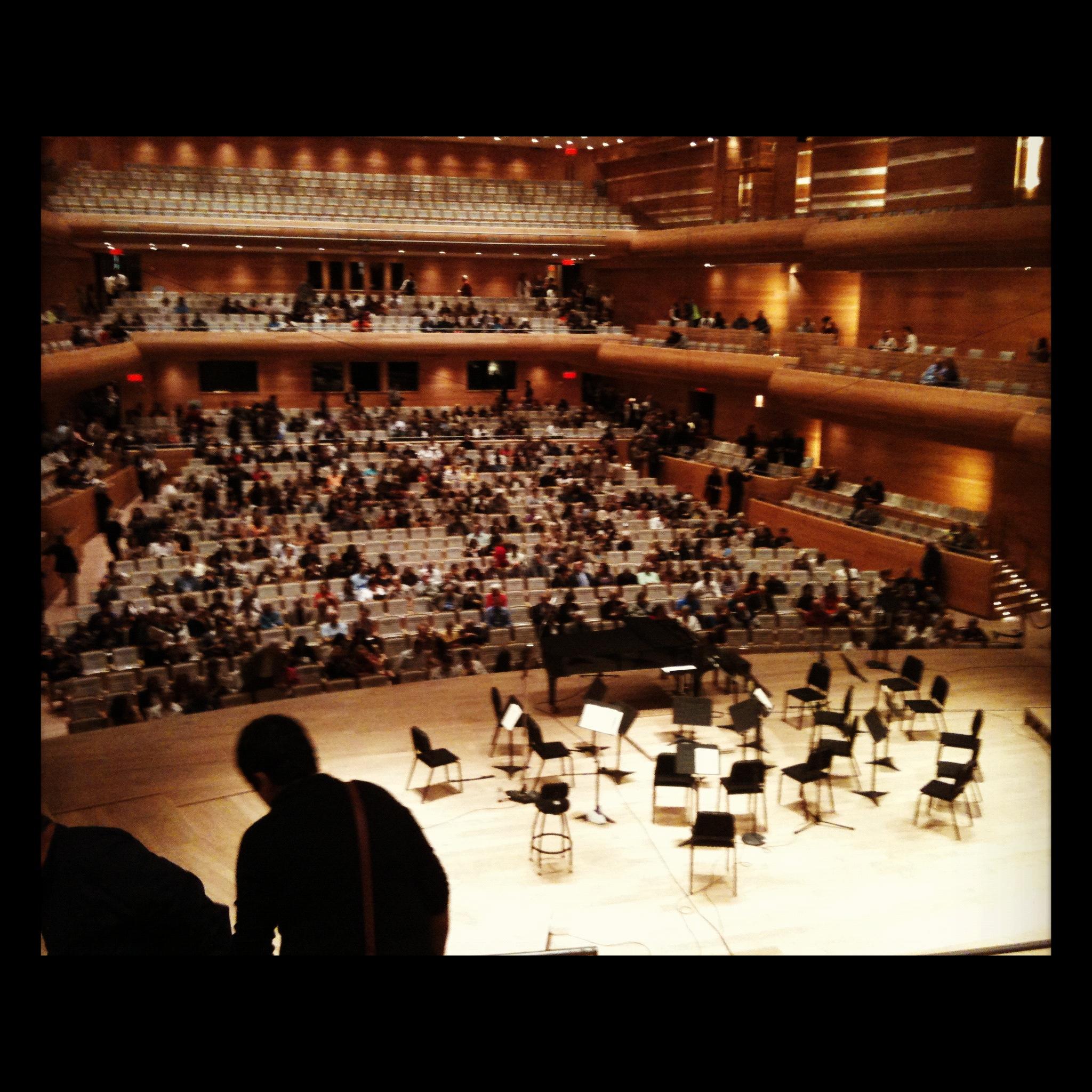 From the choir, Maison Symphonique, Montreal
