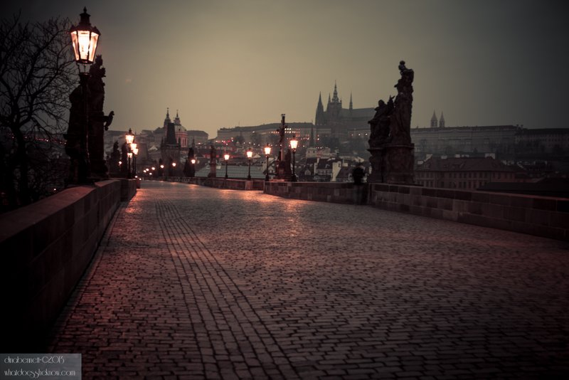 Charles Bridge without all the people