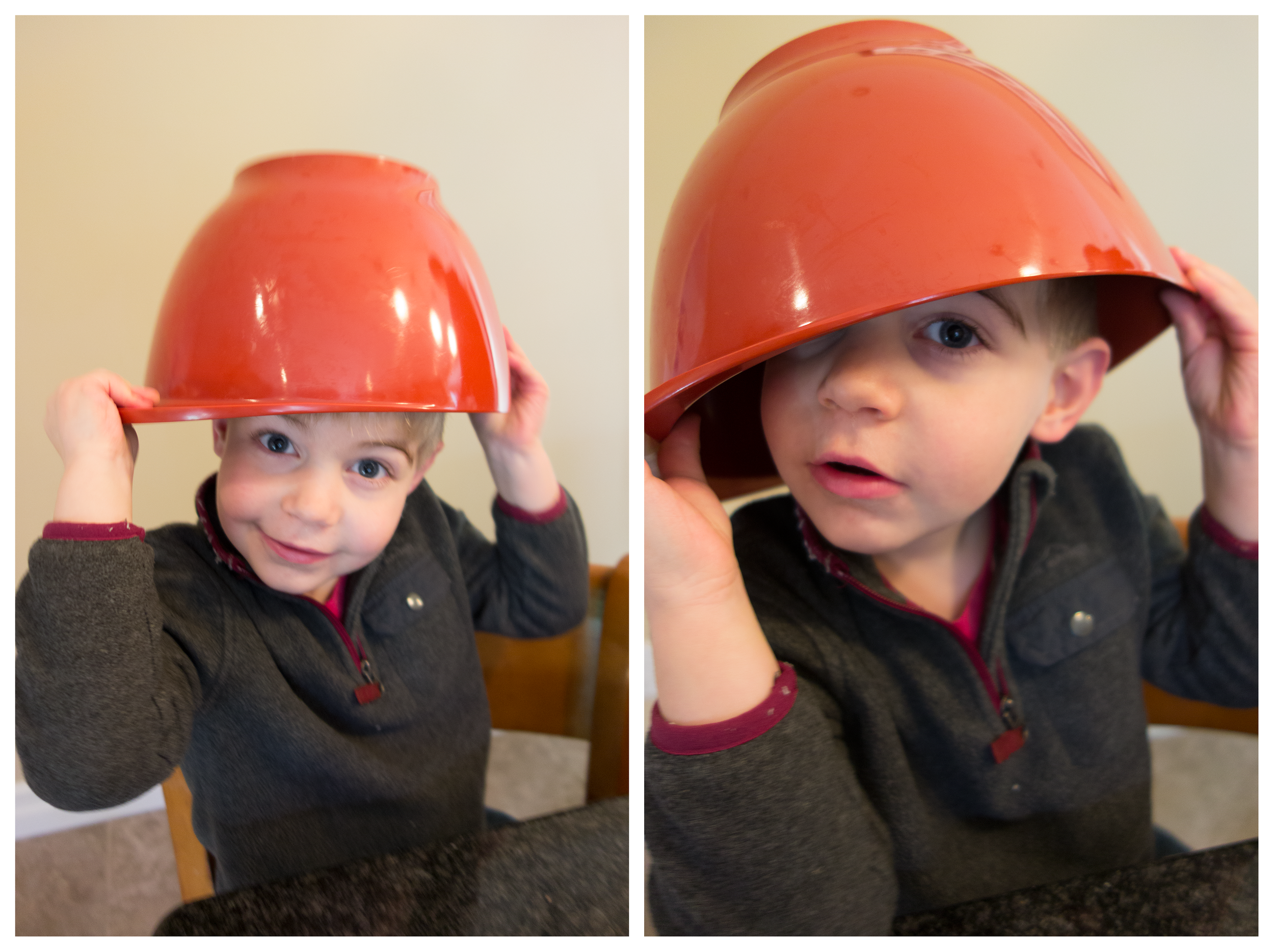 My adorable nephew sous-chef