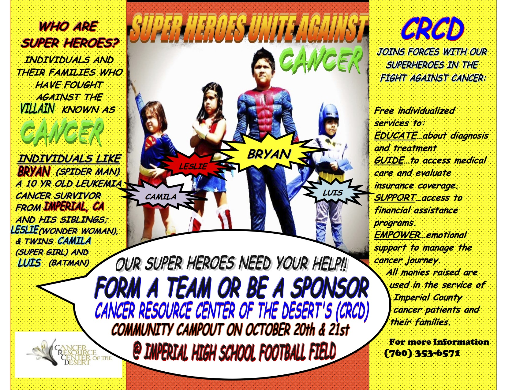 Super Heroes Unite Against Cancer