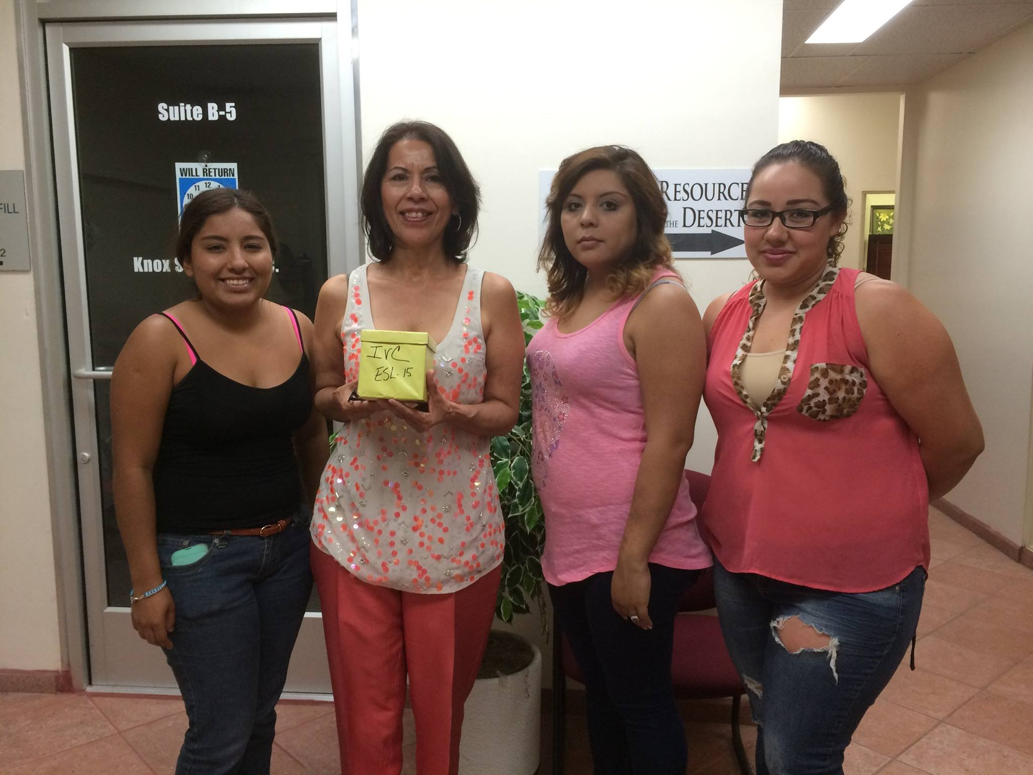 We want to thank Imperial Valley College ESL-15 for their contribution. Thank you forsupporting CRCD!